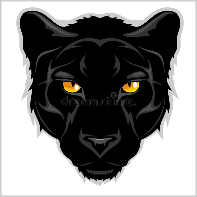 Pantera negra - en el fondo blanco libre illustration