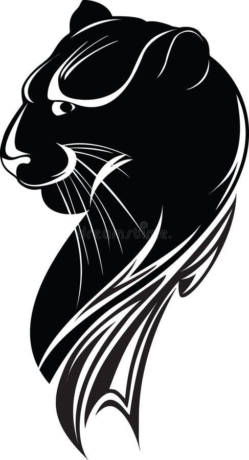 Pantera preta ilustração royalty free