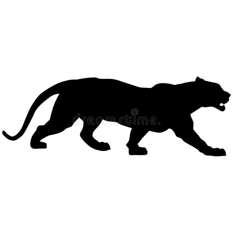 A pantera preta ruje alto ilustração do vetor