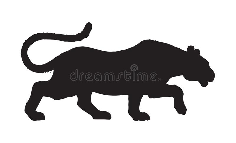 pantera rysuje tła trawy kwiecistego wektora ilustracji