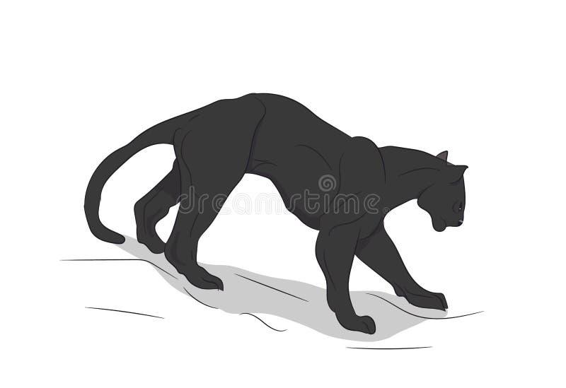A pantera vai, vector, ilustração royalty free