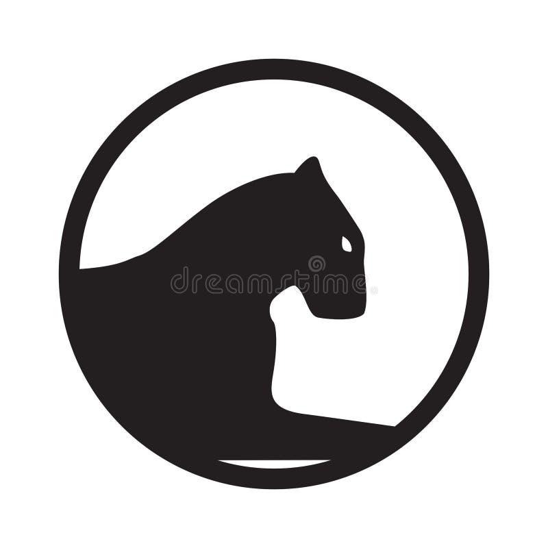 Panterembleem Embleem, mascotte of teamsymbool Vectorwilde staking royalty-vrije illustratie