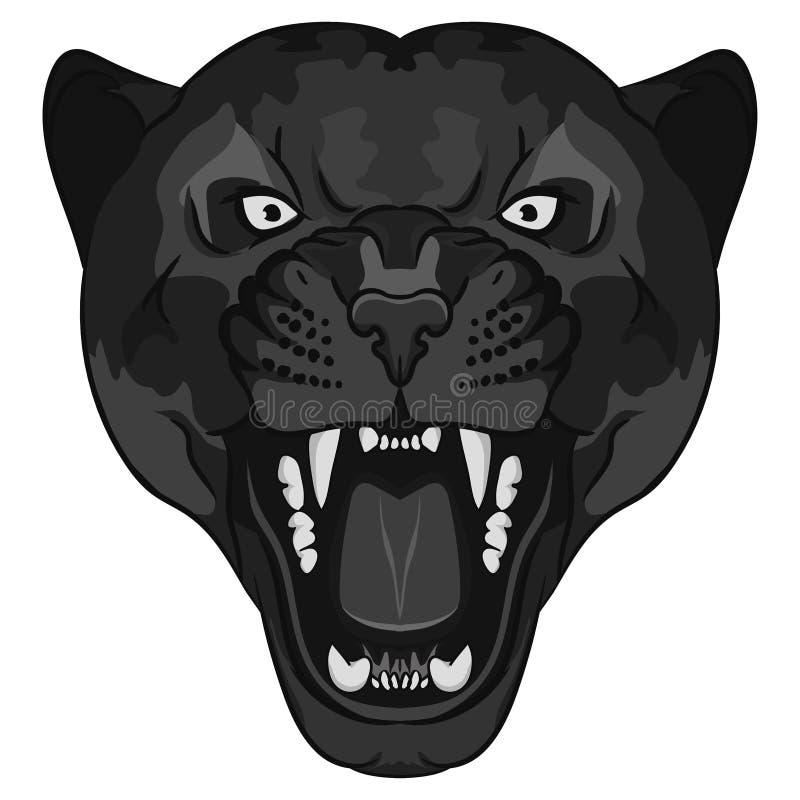 Panterportret Boze wilde grote kat vector illustratie