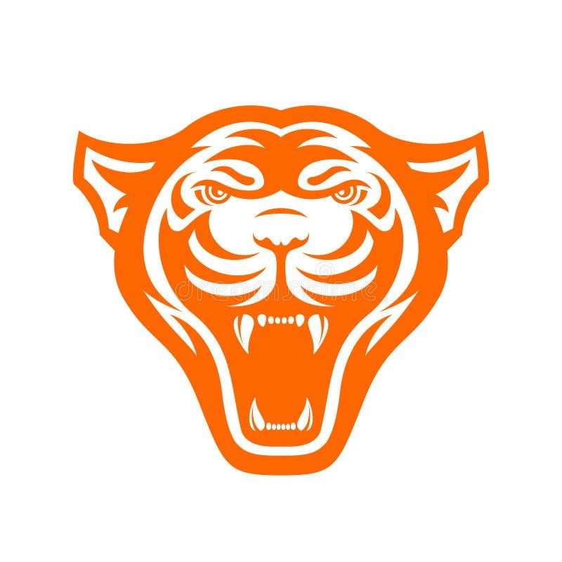 Panters hoofdembleem voor sportclub of team Dierlijke mascotte logotype malplaatje Vector illustratie vector illustratie