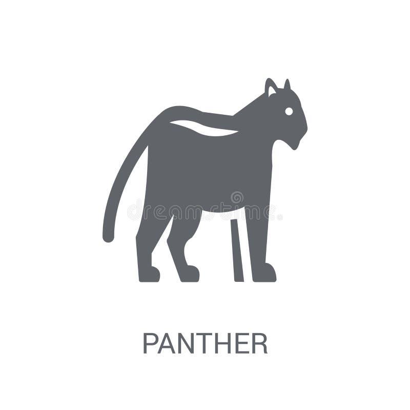 Pantersymbol  royaltyfri illustrationer
