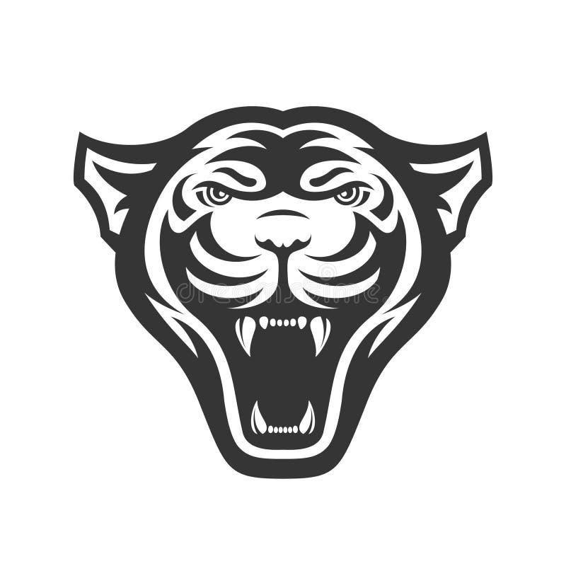 Pantery przewodzą loga dla sport drużyny lub klubu Zwierzęcy maskotka logotyp szablon również zwrócić corel ilustracji wektora ilustracji