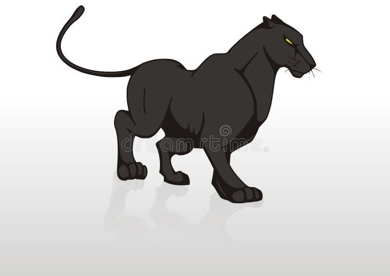 panthère noire illustration stock