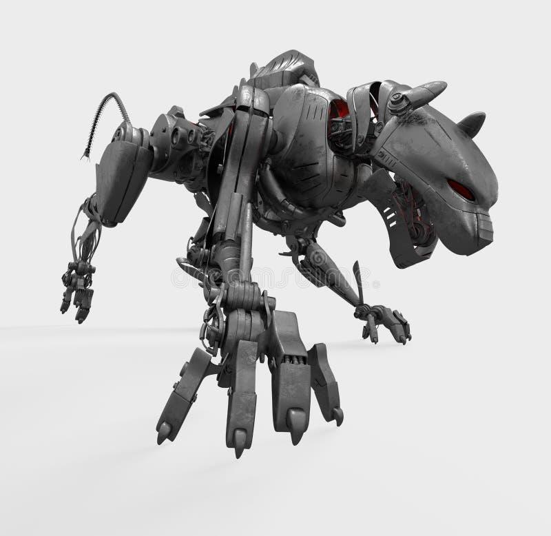 Panthère sauvage en métal de Cyber illustration de vecteur