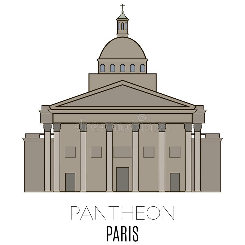 Panthéon, Paris illustration de vecteur