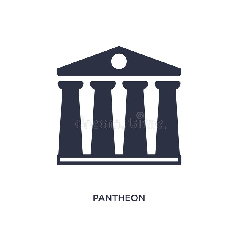 pantheon εικονίδιο στο άσπρο υπόβαθρο Απλή απεικόνιση στοιχείων από την έννοια ιστορίας ελεύθερη απεικόνιση δικαιώματος
