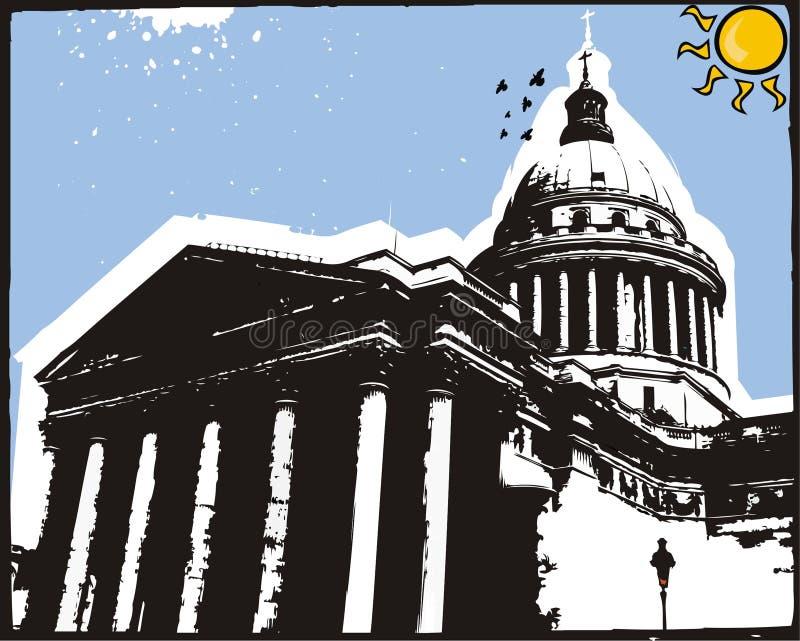 pantheon ελεύθερη απεικόνιση δικαιώματος