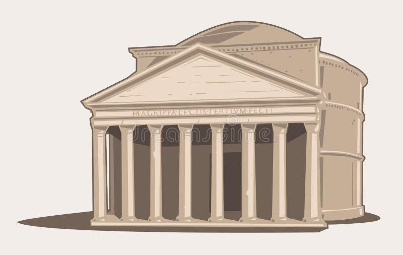 pantheon royaltyfri illustrationer