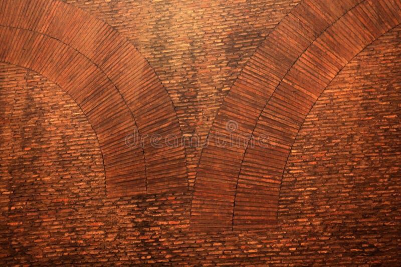 Pantheon-alter Backsteinmauer-Hintergrund Rom lizenzfreies stockbild