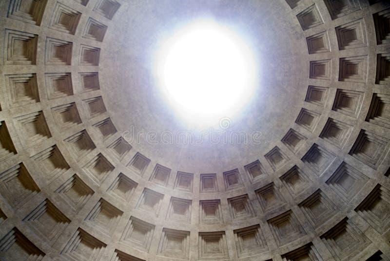 Pantheon - der Innenraum stockbild