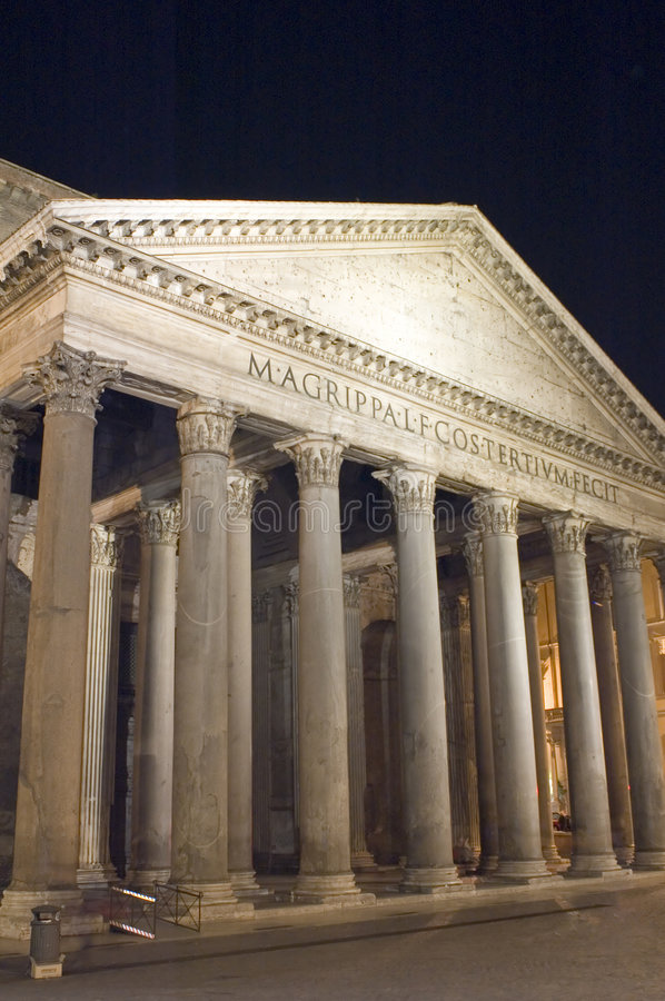 Pantheon facade stock photography