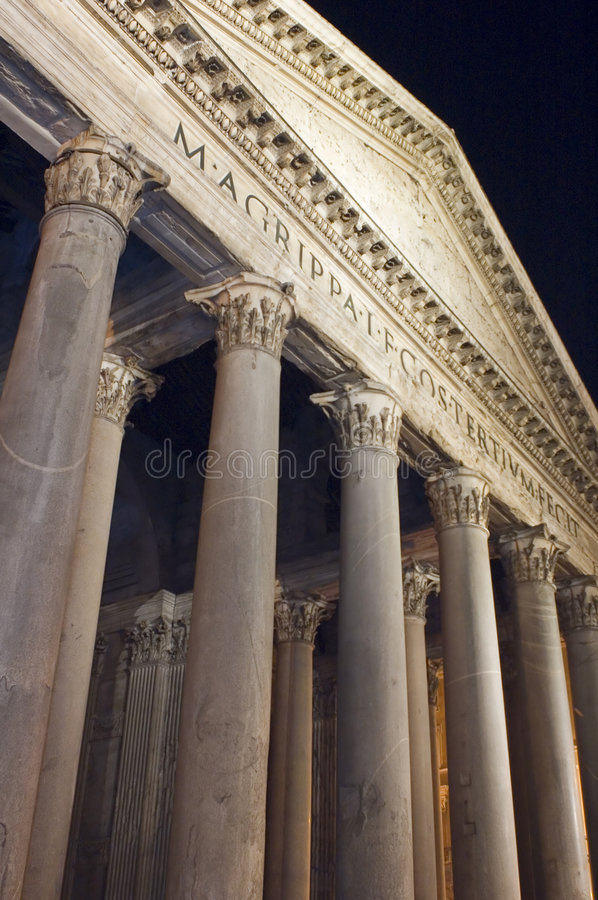 Pantheon facade in Rome Italy stock images