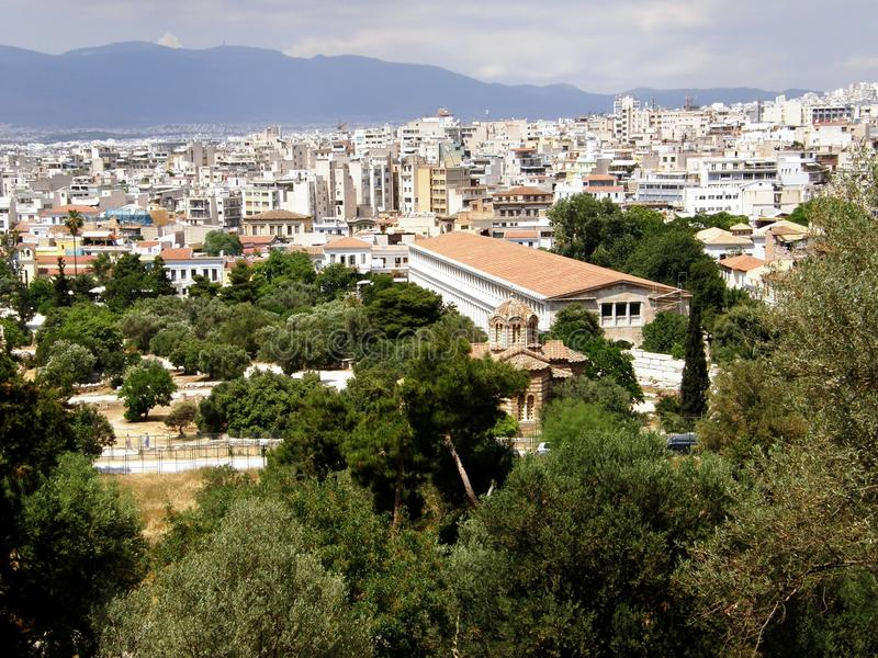 Pantheon in Greece stock photos