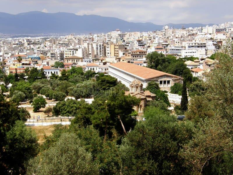 Pantheon in Griechenland stockfotos