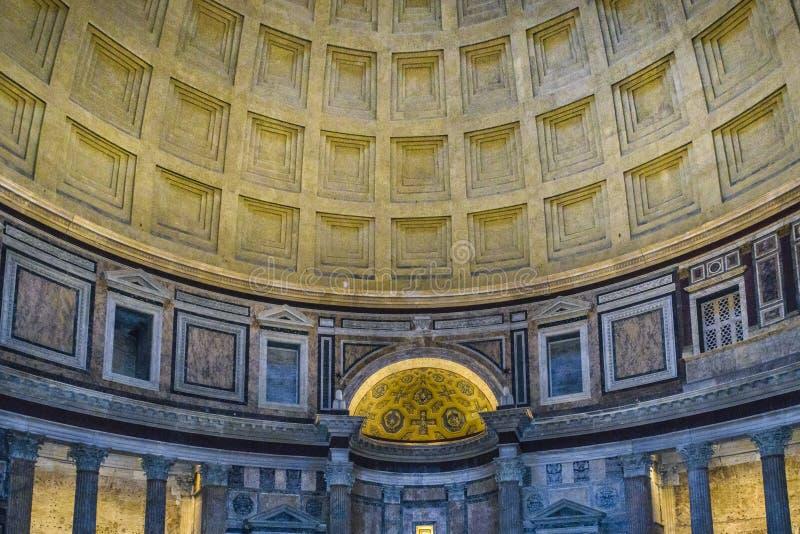 Pantheon-Innenansicht, Rom, Italien stockfoto
