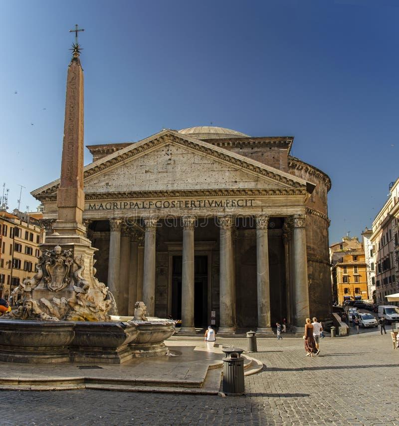 Pantheon Panoramic view royalty free stock photos