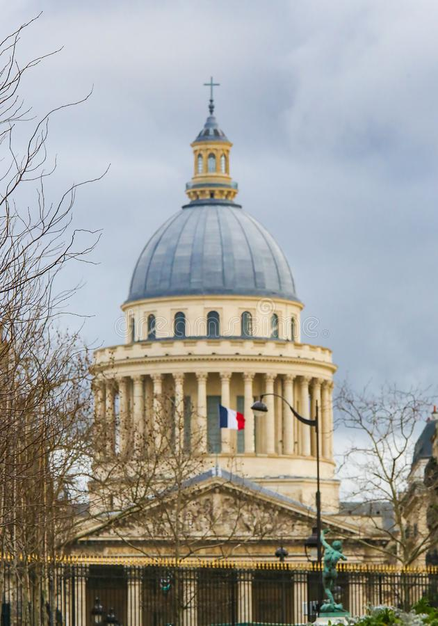 Pantheon in Paris, France. View on the Pantheon, a famous building in the Latin Quarter in Paris, France mausoleum exterior french europe european center central stock photography