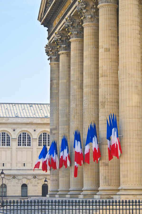 Download Pantheon, Paris-Pillars And French Flags,- Stock Image - Image: 19576661