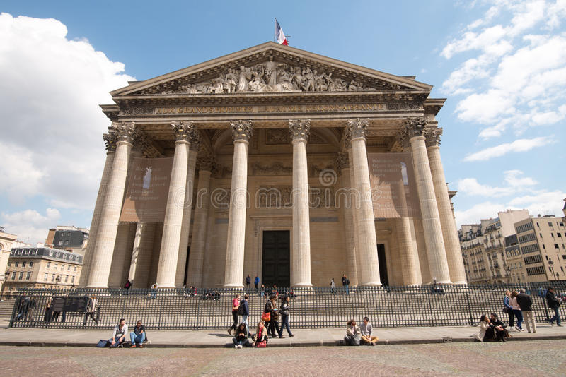 Pantheon in Quartier Latin, Paris royalty free stock photo