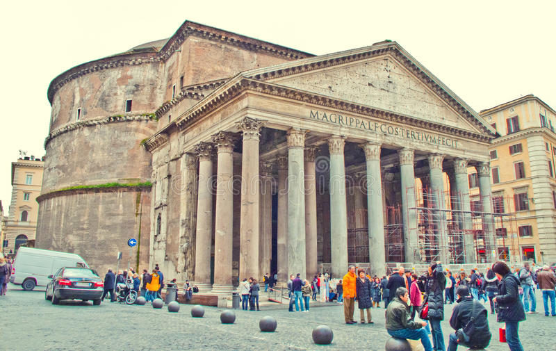 Pantheon, Rom lizenzfreies stockbild