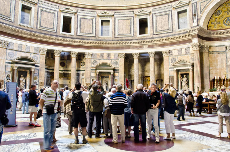 Pantheon in Rom lizenzfreie stockfotografie