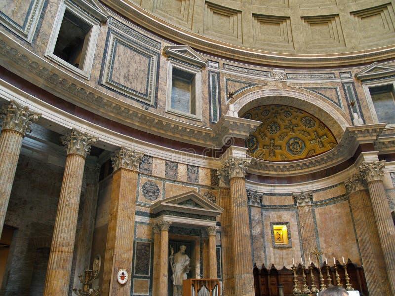 pantheon roma royaltyfria foton