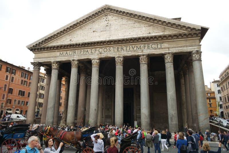 Pantheon Rome stock foto's