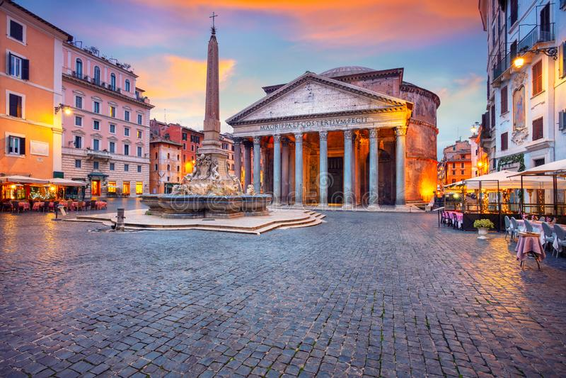 Pantheon, Rome royalty-vrije stock afbeeldingen