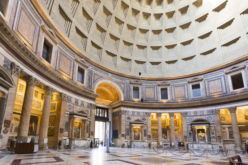 Pantheon in Rome stock foto's