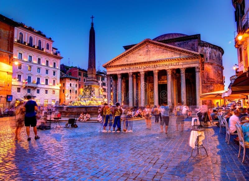 Pantheon, Rome stock afbeeldingen