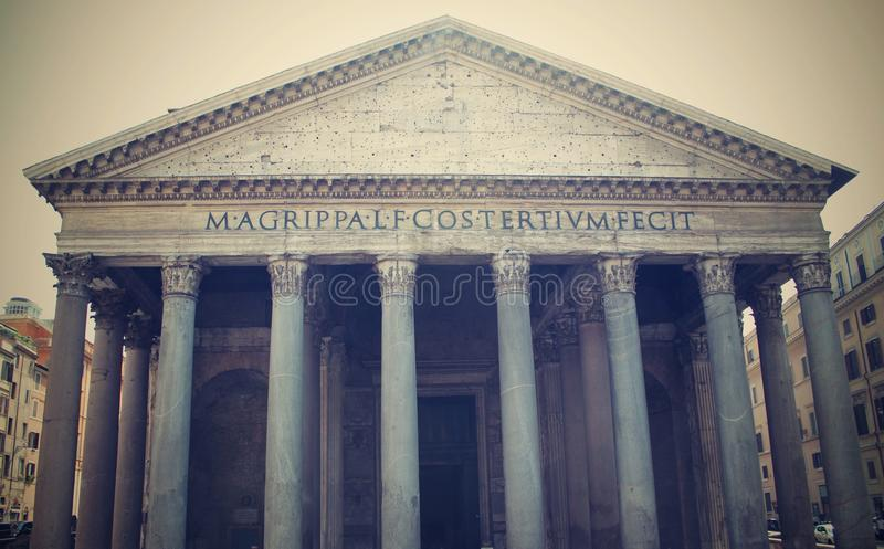 Pantheon in Rome stock fotografie