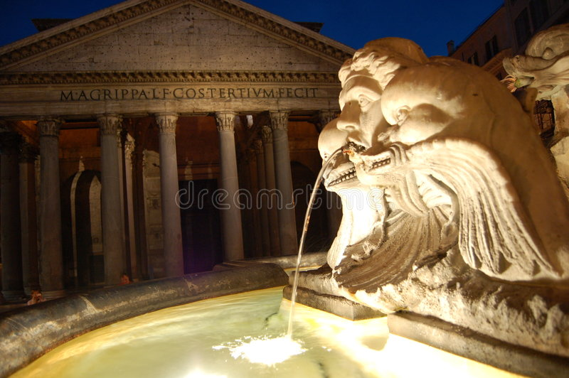 Download Pantheon, Rome stock photo. Image of ancient, italy, water - 820968