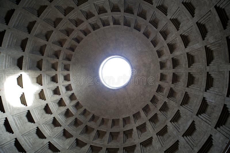 Pantheon in Rome, Italië. stock foto