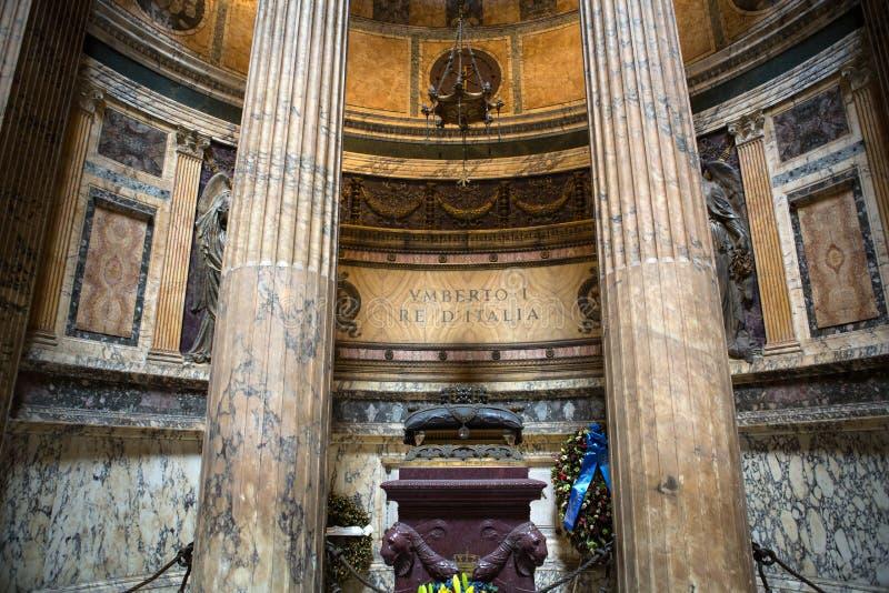 Pantheon in Rome, Italië stock afbeelding