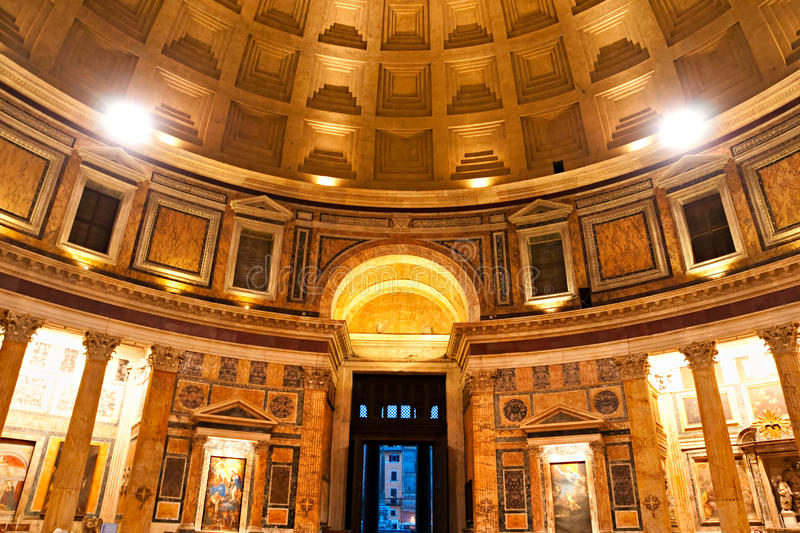 Download The Pantheon, Rome, Italy. stock photo. Image of lights - 18288346