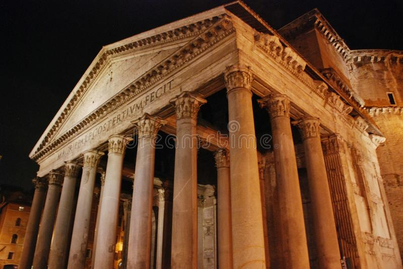 Pantheon in Rome, Italy. The ancient Roman temple, the Pantheon in Rome royalty free stock images