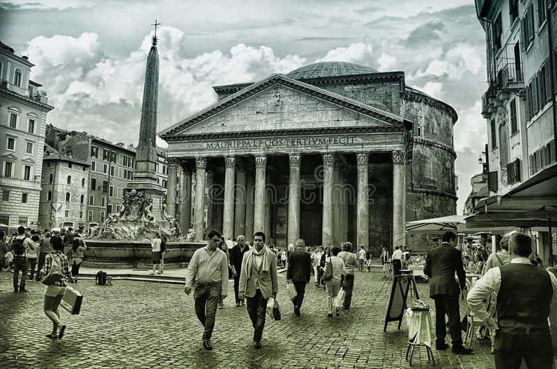 Pantheon Rome,Italy stock image