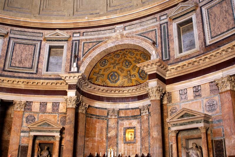 Pantheon in Rome, Italy. Interior of the Pantheon in Rome, Italy stock photography