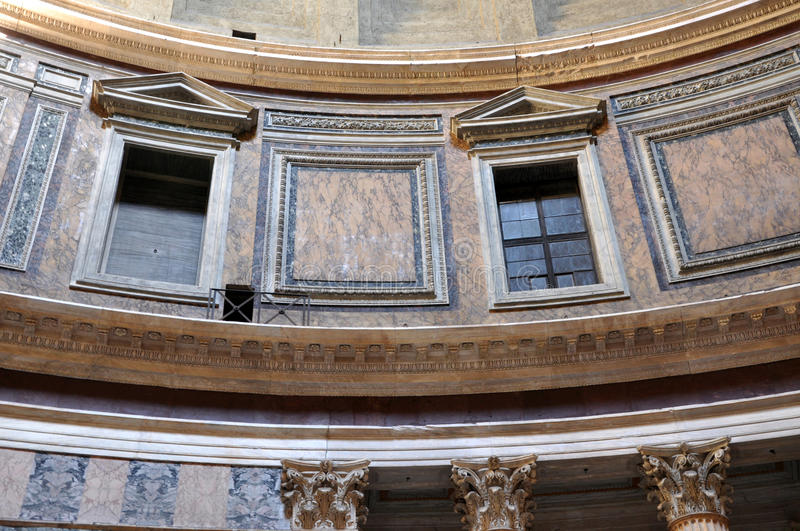 Pantheon in Rome, Italy. ROME, ITALY - MARCH 13, 2016: The Pantheon is a former Roman temple, now a church on the site of an earlier temple commissioned by royalty free stock images