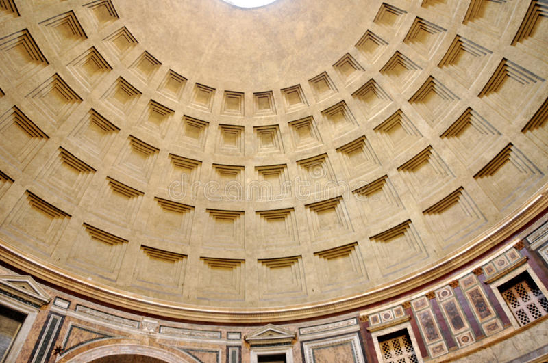 Pantheon in Rome, Italy. ROME, ITALY - MARCH 13, 2016: The Pantheon is a former Roman temple, now a church on the site of an earlier temple commissioned by stock photography
