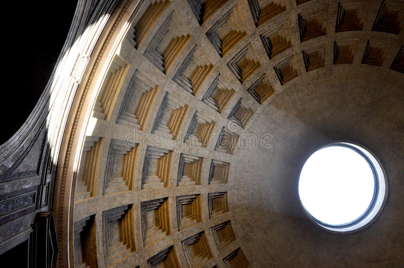 Pantheon in Rome, Italy. ROME, ITALY - MARCH 13, 2016: The Pantheon is a former Roman temple, now a church on the site of an earlier temple commissioned by royalty free stock image
