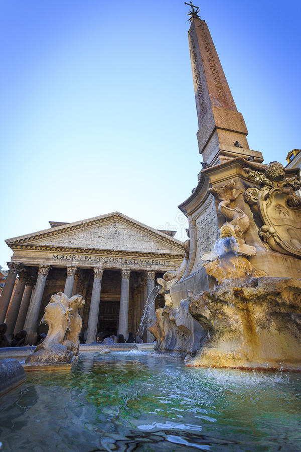Pantheon, Rome, Itlay stock foto's
