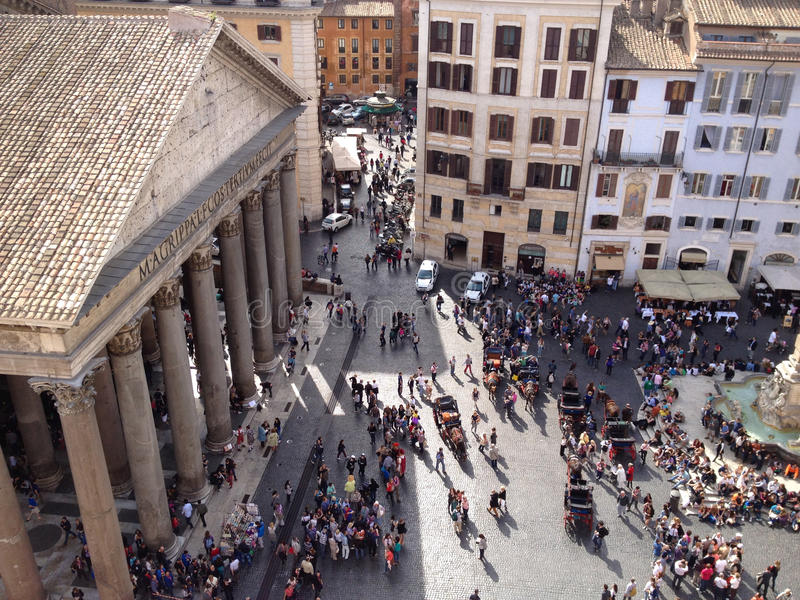 Download Pantheon square, Rome stock image. Image of aerial, italy - 27931075