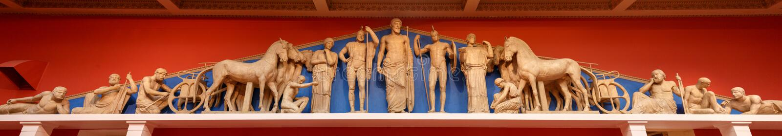 Pantheon statues. Zeus, Athena and other ancient Greek gods.  stock photo