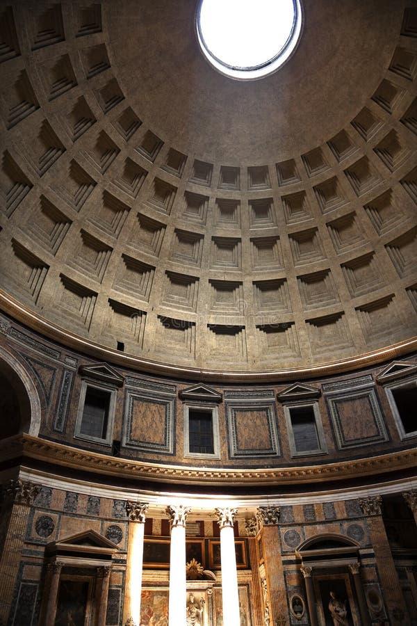 Pantheon3pm sundial-Effekt Rom Italien lizenzfreies stockbild