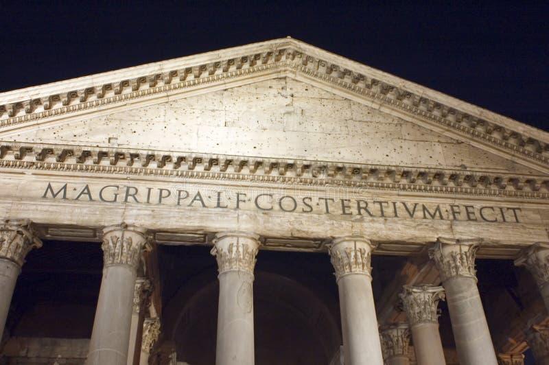 Pantheonfassade in Rom stockfoto